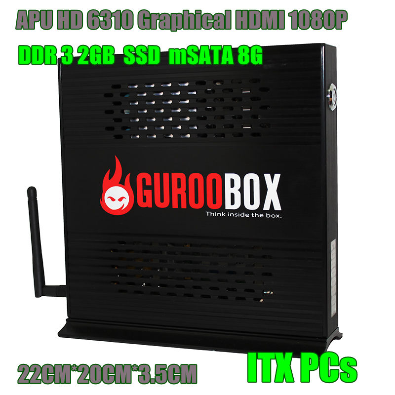 Computer-Wifi Desktop SSD Mini 2g-Ram ITX Architecture Aluminum-Chassis Dual-Core 150mb/S