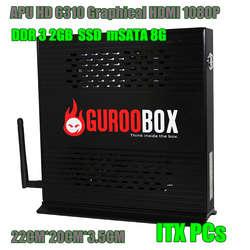 Full HD Двухъядерный 1,6 ГГц 8 г SSD 2 г ram мини-ПК wifi 150 МБ/с./с алюминиевое шасси ITX архитектура