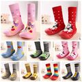 Hot Selling Newborn Baby Boy Girl Socks Anti Slip Animal Cartoon Slippers Boots Soft Rubber Soled Outdoor Footwear 9Styles Shoes