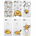 Cute Funny Gudetama Personaje de Dibujos Animados Patrón de Huevo Lasy muchachos Suave Claro caja del teléfono para samsung galaxy j5 a3 a5 s5 s6 s7 borde