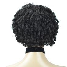 Лучший!  Afro Kinky Curly Wigs Парики с полной челкой Синтетический короткий парик Натуральный черный Ombre