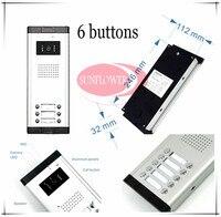 CCD Lens Outdoor Camera Video Door Phones Intercom Systems Door Bells With 6 Buttons For 6