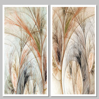Colorful Big Size 2pcs Set Abstract Art Lines Decoration Wall Art Pictures Canvas Painting Poster Print