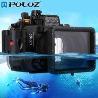 PULUZ 40m 128inch 130ft Underwater Swimming Diving Case Waterproof Camera bag Housing case for Panasonic LUMIX DMC LX100 LX100