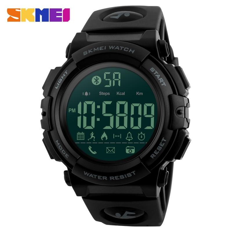 Brand New Skmei SmartWatch Bluetooth Fashion Watches Men 50M Waterproof Digital Men's Smart Sport Watch 1303 2018 new fashion original brand sport watch men watches skmei wristwatch gift 1 2 5 1 and 1 2 99 model only for vip gabriel