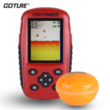 Russian and English Menu XF88 Wireless Fish Finder Sonar Portable Waterpoof Lake Sea Contour Thermometer Sounder Fishfinder