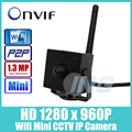 WI-FI HD 1280x960 P 1.3MP Безопасности Mini Ip-камеры 3.7 мм Объектив Крытый Металла Камеры ONVIF P2P Беспроводной ВИДЕОНАБЛЮДЕНИЯ IP Cam