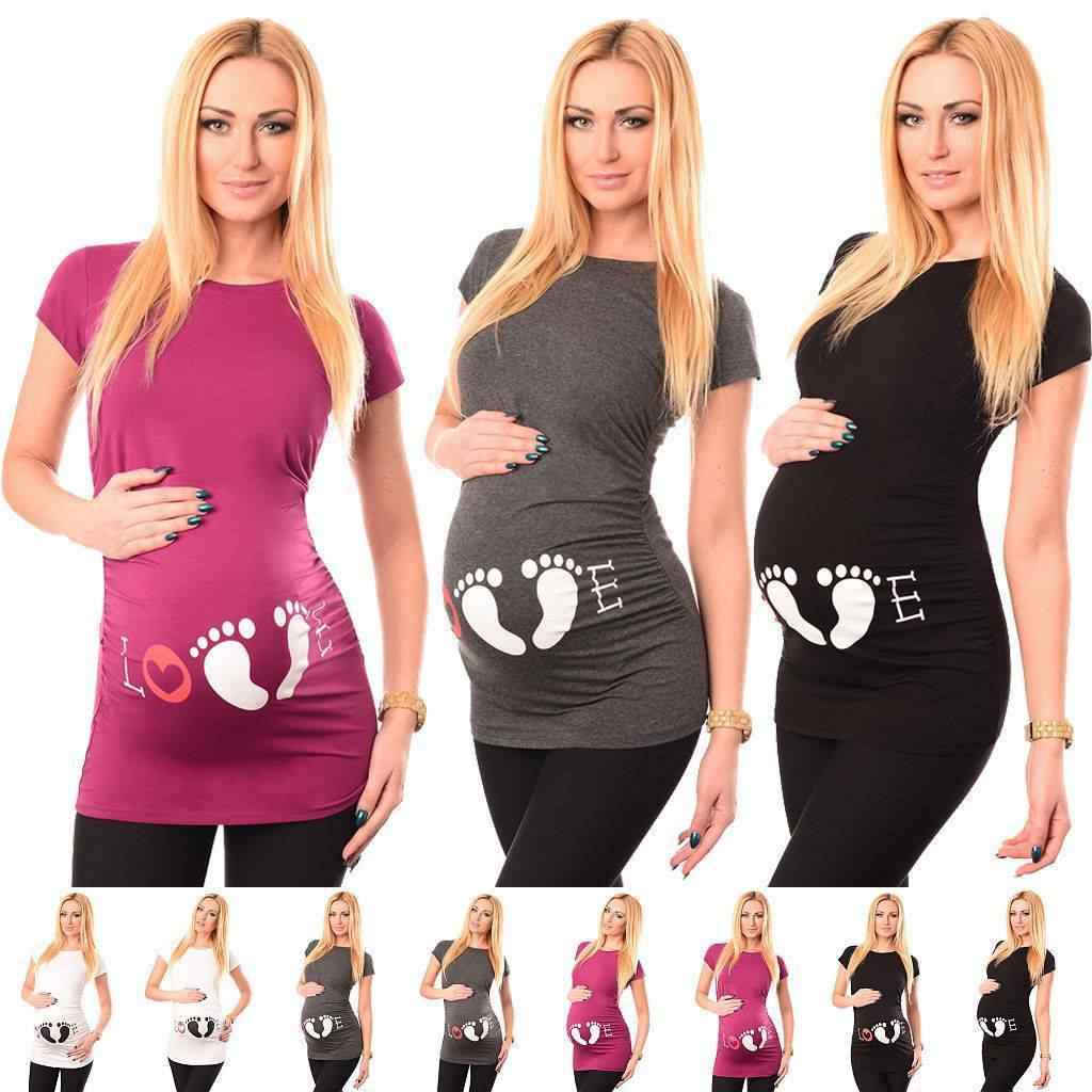 792701daa527d Detail Feedback Questions about Summer Pregnant Women Love Printed Long  Tops Maternity Clothes T shirt Short Sleeve Letter T Shirts on  Aliexpress.com ...