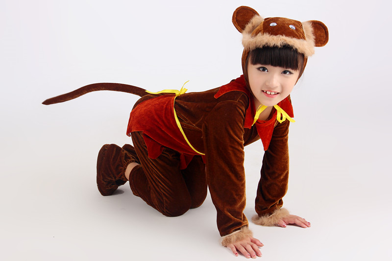 children cartoon animal monkey costumes boys girls childrens day christmas halloween party cosplay clothes clothing kids gifts - Halloween Monkey Costumes