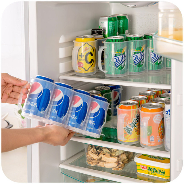 Superbe New Home Refrigerator Storage Box Kitchen Accessories Coke Drink Can  Space Saving Cans Finishing Frame