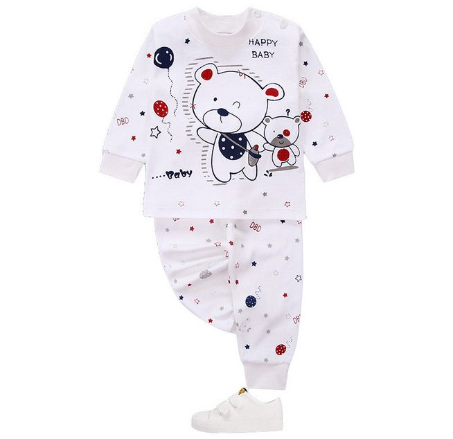 Autumn Winter Newborn Baby Boy Clothes Set Long Sleeve Infant Baby Girl Clothing Cotton Toddler Baby Clothes Suit Outfit Pyjamas 2017 hot newborn infant baby boy girl clothes love heart bodysuit romper pant hat 3pcs outfit autumn suit clothing set