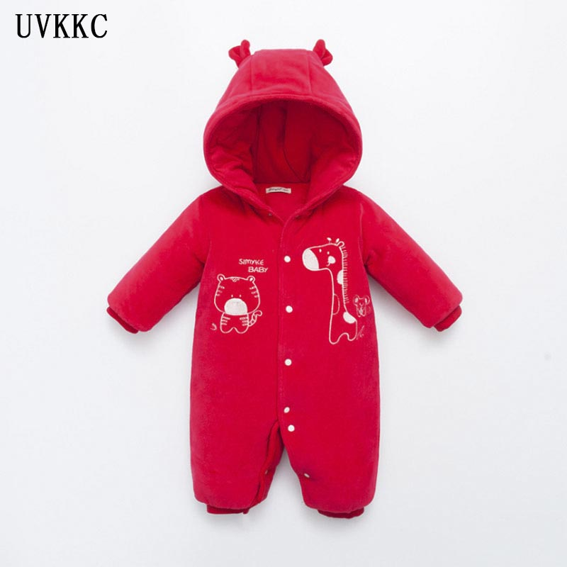 UVKKC 2017 Winter baby boys girls clothes set long-sleeve Giraffe Newborn baby Romper Knitted jumpsuit roupas de bebe for 6-18M cotton baby rompers set newborn clothes baby clothing boys girls cartoon jumpsuits long sleeve overalls coveralls autumn winter