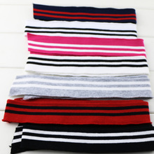 2pcsset Spring and Autumn elastic collar cuffs hem bottom collar thread mouth fabric Strip Series cotton knitted fabric