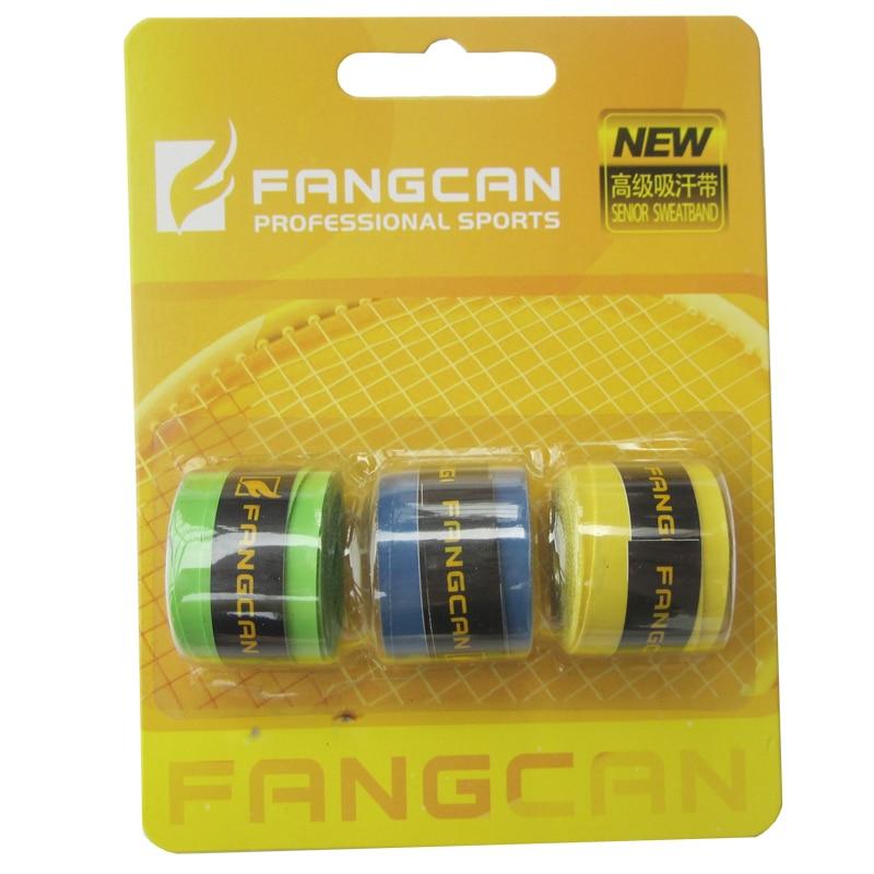 1 iepakojums FANGCAN badmintona raketes spīdīga plēve ar tenisa raketi Sticky overgrip pie nejaušām krāsām