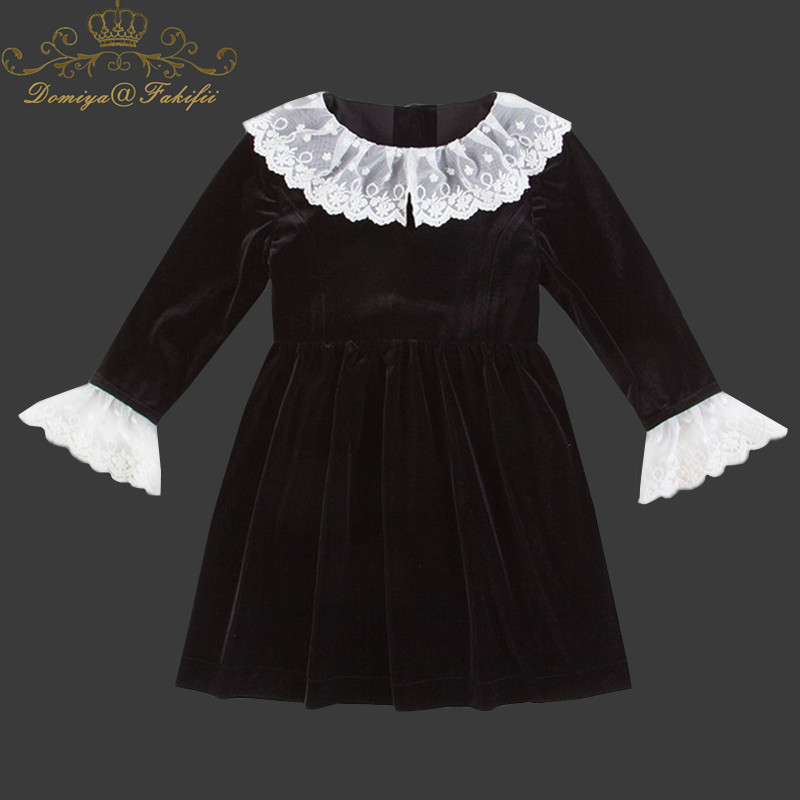 Kids Princess Dress 2018 Casual Kids Dresses For Girls Ball Gown Toddler Girl Clothing Children Clothes Girls Black Velvet Dress flower baby girls princess dress girl dresses summer children clothing casual school toddler kids girl dress for girls clothes page 3