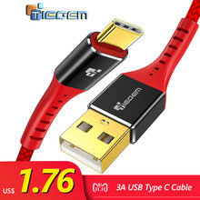 TIEGEM 3.1 USB Type C Cable Nylon Fast Charging USB Type-C USB-C Data Sync Charger Cable for Oneplus 2 Zuk Z2 NEXUS 5X 6P XiaoMi(China)
