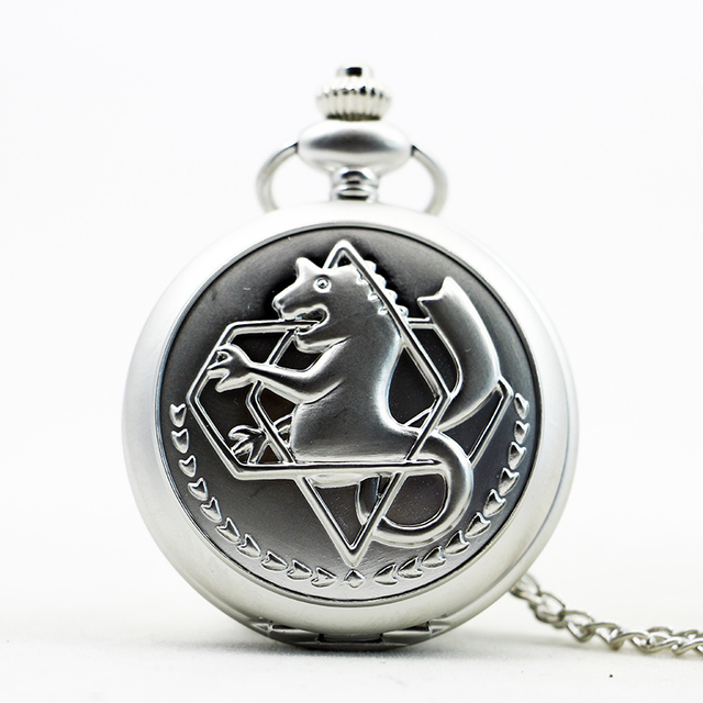 Fashion Fullmetal Alchemist Horse Quartz Pocket Watch Prndant Necklace Steampunk