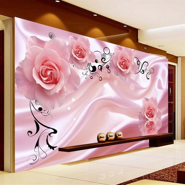 beibehang Vine Art Silk Wall Painting Wallpaper Modern Living Room ...
