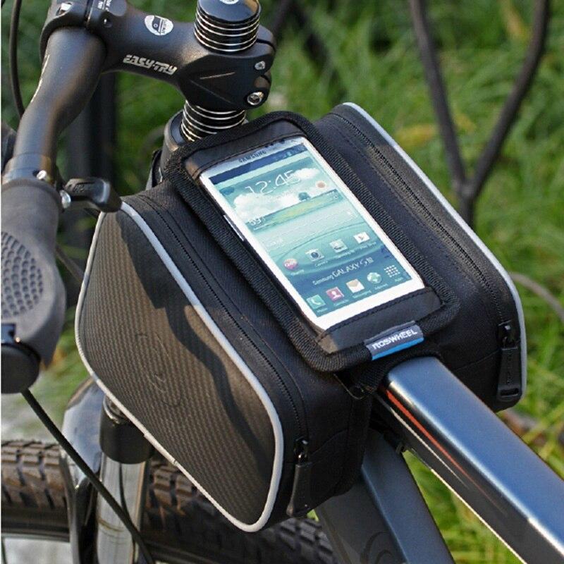 ACEXPNM Fahrrad-rahmen Vorne Leiter Top-schlauch-beutel Doppel IPouch Radfahren Pannier Für 5,0/5,5 zoll Smartphone Touch bildschirm