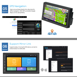 Image 3 - Podofo 2din Car Radio Android multimedia player Autoradio 2 Din 7 Touch screen GPS WIFI Bluetooth FM auto audio player stereo