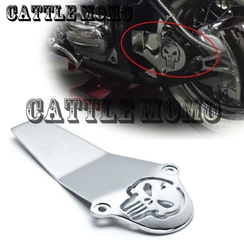 Motorcycle Chrome Skull Drive Shaft Cover For Yamaha V Star V-Star 650 1998-2015 V Star 1100 1999-2010 2011 2012 Classic Custom стоимость