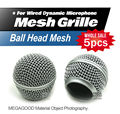 Free Shipping 5pcs/lot Professional Replacement Ball Head Mesh Grille Accessories for Shure BETA58 BETA58A SM58 SM58S SM58LC