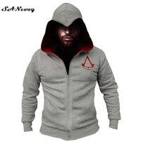 Moda Erkekler Assassins Creed Kapüşonlu Sweatshirt Hombre Sonbahar Kış Katı Hoodie Sweatshirt Erkekler Cosplay Chadal Serin Giyim 3XL