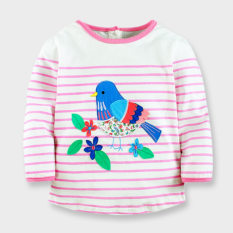 Autumn baby girls t shirts long sleeve fashion