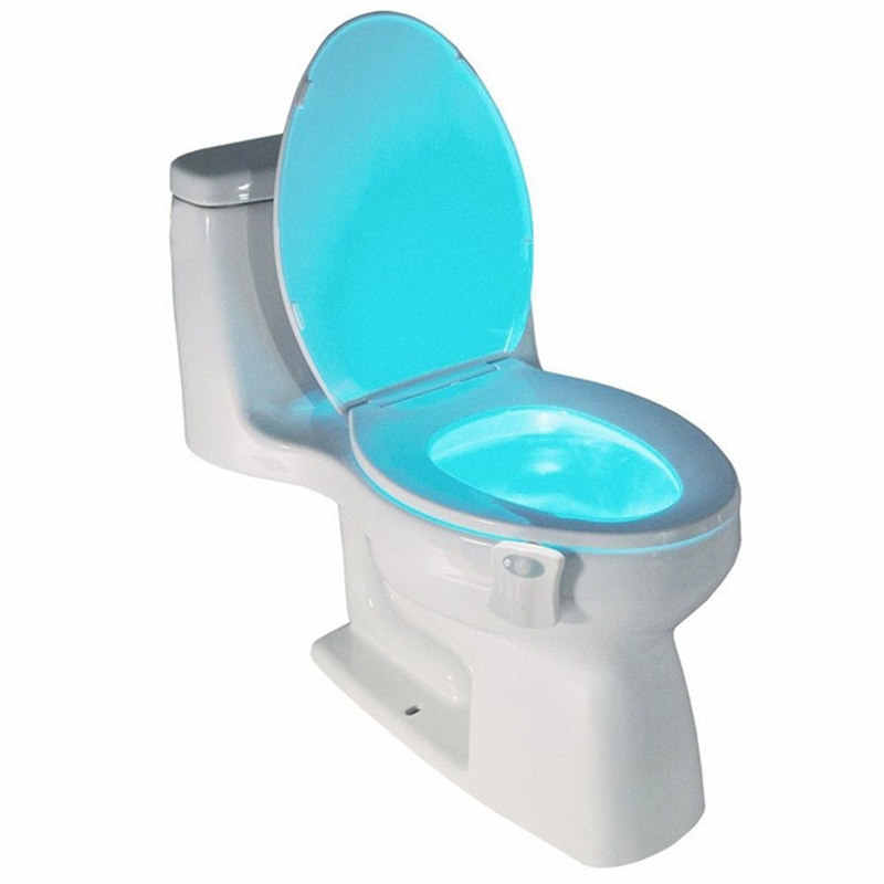 Sensor Toilet Bowl Lamp Toilet Seat LED Night Light Motion 8 Colors Smart Auto Activated Cuvette wc Bathroom Accessories 1pc