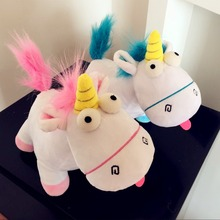 34cm Film Agnes Doll Minions Plush Unicorn Horse Lucky Stuffed Animals Child Toys Birthday Xams Gift Dash Pillow Despicable