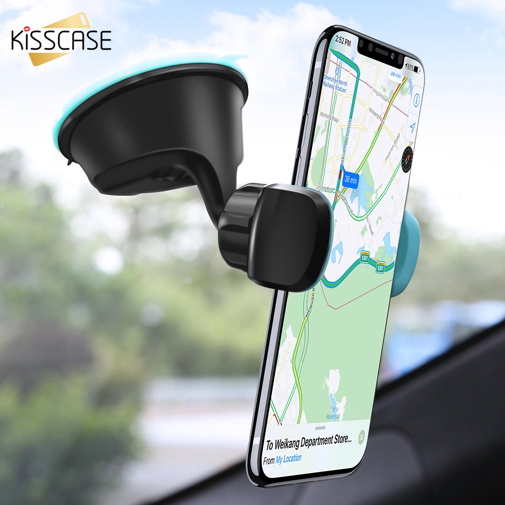 KISSCASE Car Phone Holder Air Vent Car Mount Holder para teléfono en el soporte del coche Soporte móvil Smartphone Voiture para titulares de iPhone