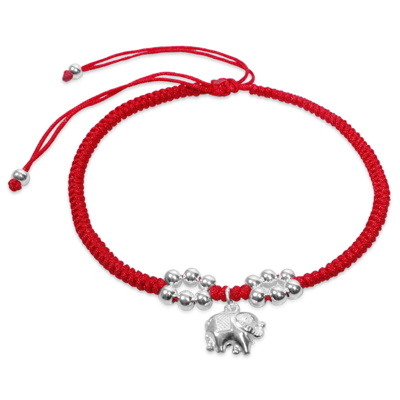 Red string anklet female 925 pure silver anklets fashion bell birthday gift lucky Ruyi anklets