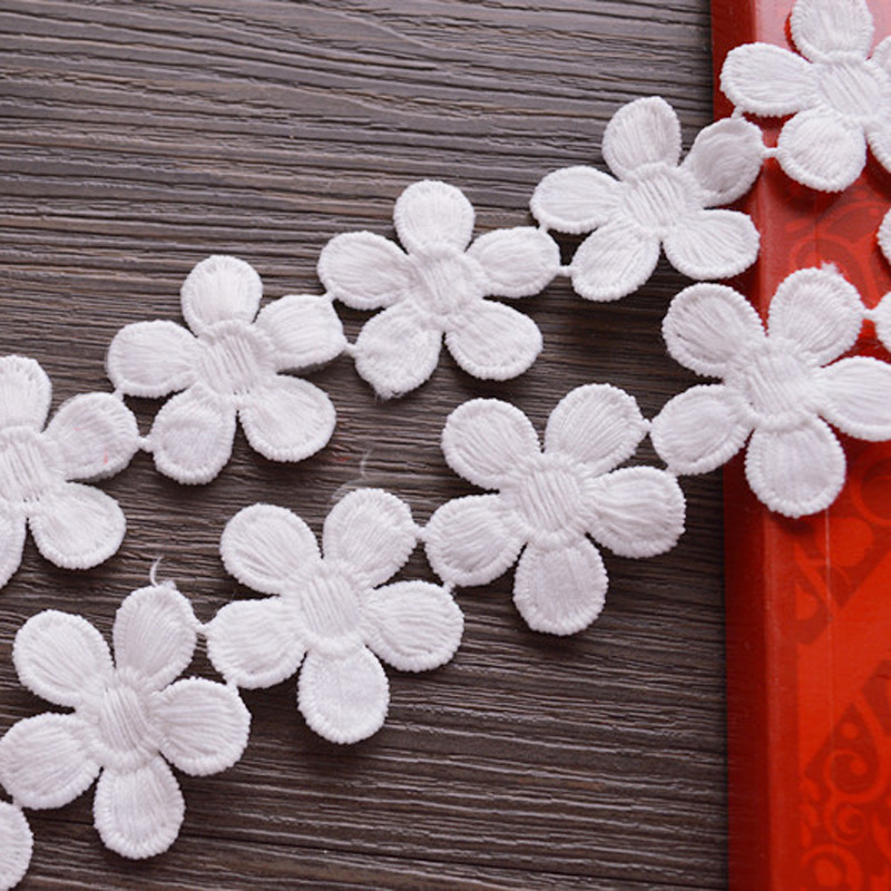 Analytical 15yards/lot Width 3.4cm White Water Soluble Lace Fabric Clothing Materials Novelty Diy Embroidered Craft Lace Accessories Apparel Sewing & Fabric