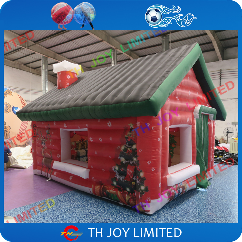 Oxford fabric inflatable christmas house for sale red for Party house for sale