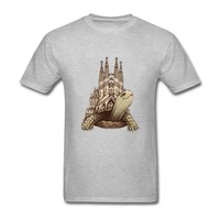 Low Pre Teenage Barcelona MESSI Slow Architecture Short Sleeve Tshirs O Neck T Shart For Man