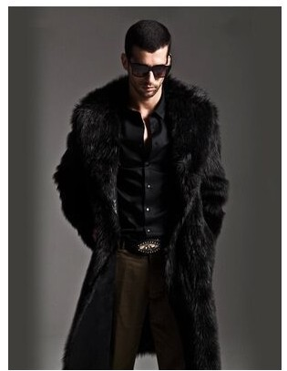 Men's Clothing Systematic M/3xl Men Long Section Casual Faux Mink Fur Coat Mink Overcoat Large Size Two Sides Wear Fur Jacket Winter Warm Overcoat J537 Faux Leather Coats