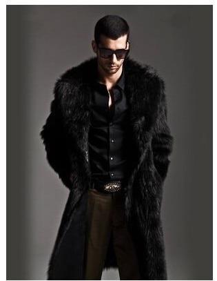 M/3Xl Men Long Section Casual Faux Mink Fur Coat Mink Overcoat Large Size Two Sides Wear Fur Jacket Winter Warm Overcoat J537