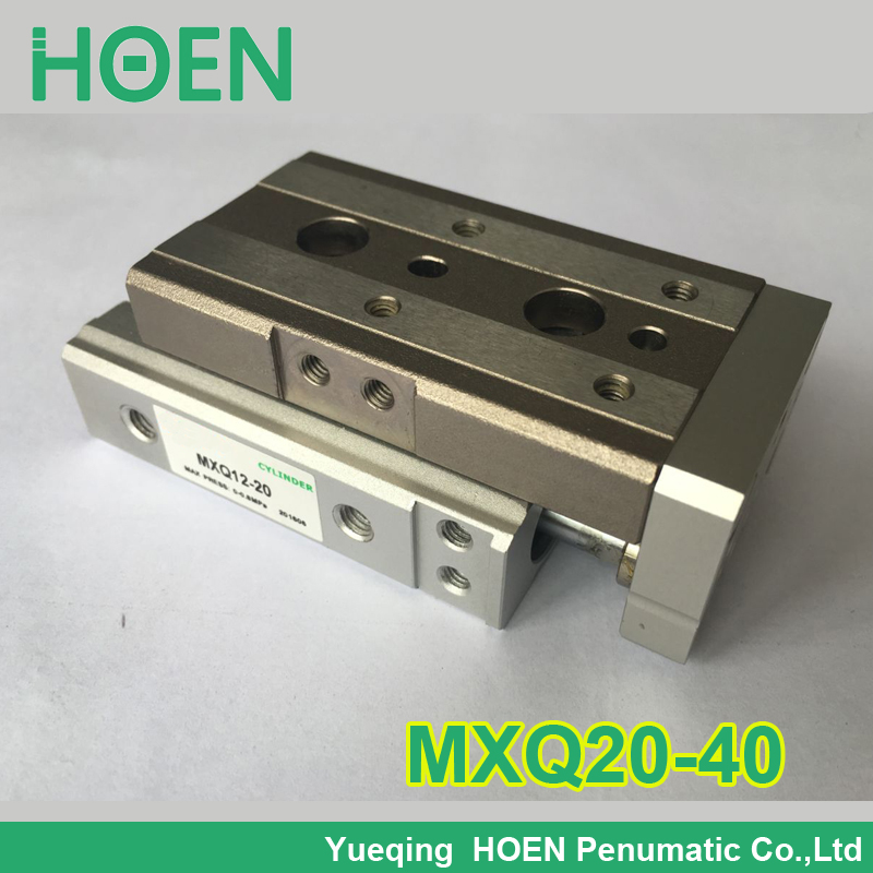 MXQ20-40 SMC Type MXQ series Pneumatic Cylinder MXQ20-40A 40AS 40AT 40B Air Slide Table Double Acting 20mm Bore 40mm Stroke high quality double acting pneumatic gripper mhy2 25d smc type 180 degree angular style air cylinder aluminium clamps