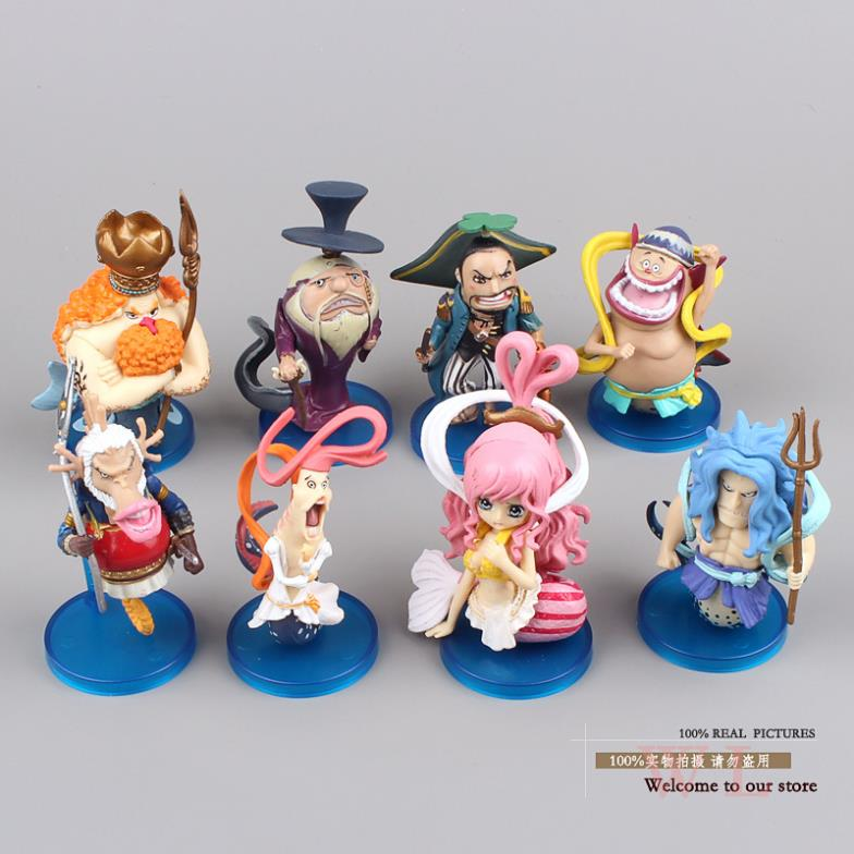 anime figures PVC Action Figures One Piece Fishman Island Princess Shirahoshi Mini Collection Model Toys Dolls 8pcs/set