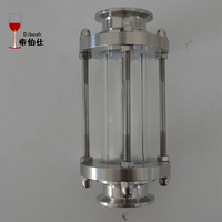 Stainless Steel Slight Glass To Observe Distilling Status Sight Glass Clamp 2 Inches Standered Clamp For