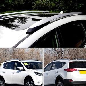 Image 3 - 2013 2014 2015 2016 2017 per Toyota RAV4 XA40 Argento Esterno Car Auto Roof Rack Ferroviarie Coperchio Borsette Cap di ricambio 4PCS