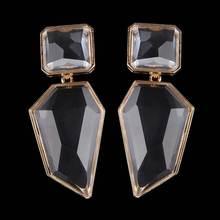 Dvacaman New Handmade Crystal Za Jewelry Women's Earrings 2018 Wedding Party Dangle Drop Earrings Metal Accessory Pendientes AC7