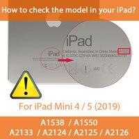 soft tpu Multi-folded Smart Case For iPad Mini 4/5 7.9