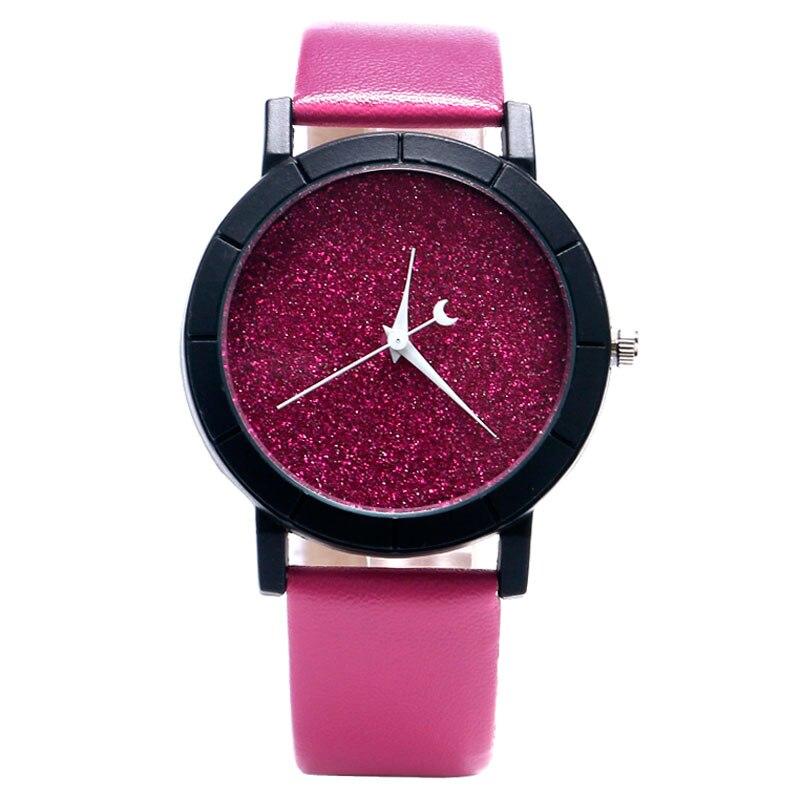Cute Moon Stars Design Analog Wrist Watch Girls Unique Blooming ...