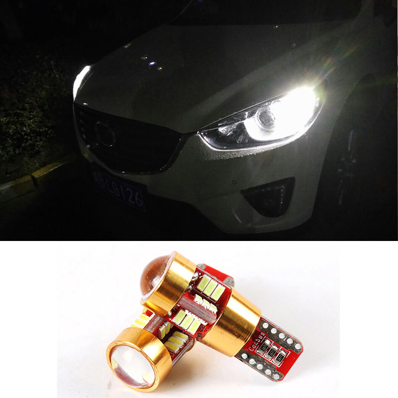 2x T10 W5W <font><b>LED</b></font> Bulbs Error Free Car Parking Light For <font><b>Mazda</b></font> 3 Axela 6 CX 5 CX5 2 <font><b>CX7</b></font> 323 5 CX3 CX-5 MX5 626 RX8 CX 7 Atenza CX-7 image