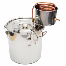 High Quality Best Price 18L Copper Moonshine Ethanol Alcohol Water Distiller Still Stainless Boiler
