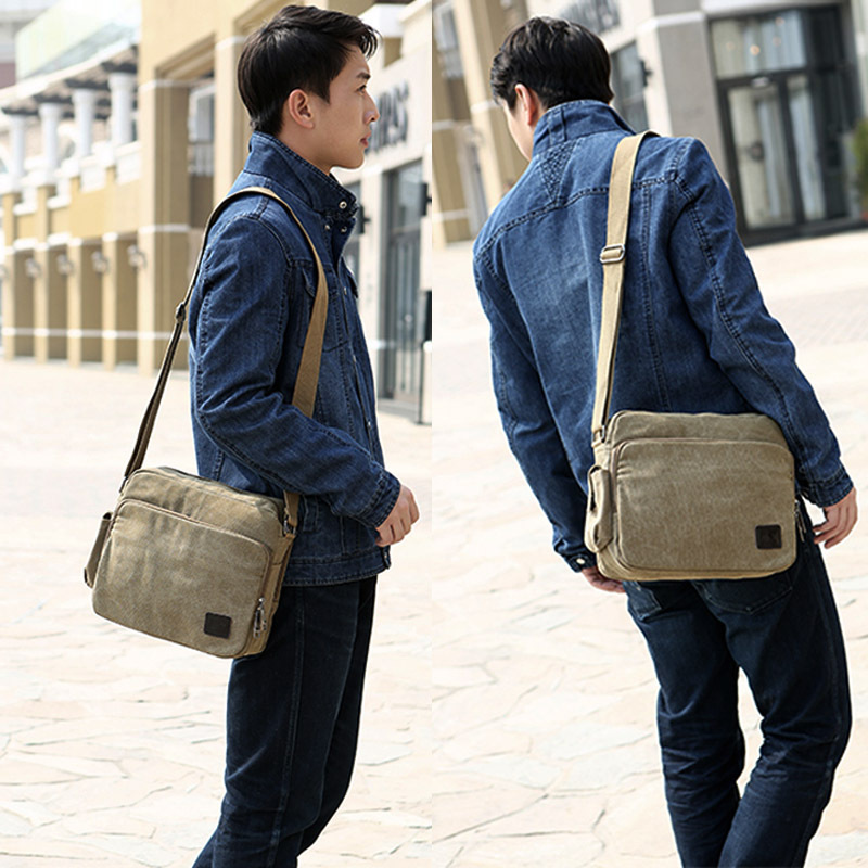 18764d7c0e9 Hot! High Quality Multifunction Men Canvas Bag Casual Travel Bolsa  Masculina Men s Crossbody Bag Men Messenger Bags-in Crossbody Bags from  Luggage   Bags on ...