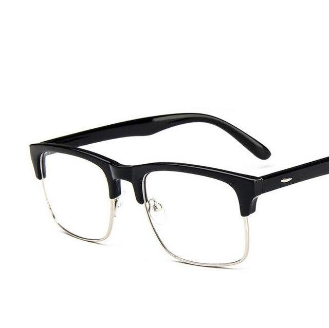 Aliexpress.com : Buy Fashion Retro Half Rim Optical Glass Frame Men ...