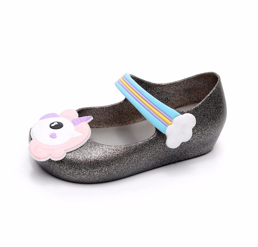 Mini melissa jelly shoes girls sandals unicorn children for Fish head shoes