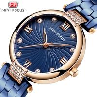 MINIFOCUS kobiety zegarki Top marka luksusowe wodoodporna dżetów panie zegarek na rękę złota sukienka kwarcowy zegar dziewczyna Relogio Feminino w Zegarki damskie od Zegarki na